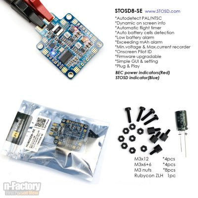 Matek HUBOSD8-SE PDB OSD BEC and Current Sensor 3-6S