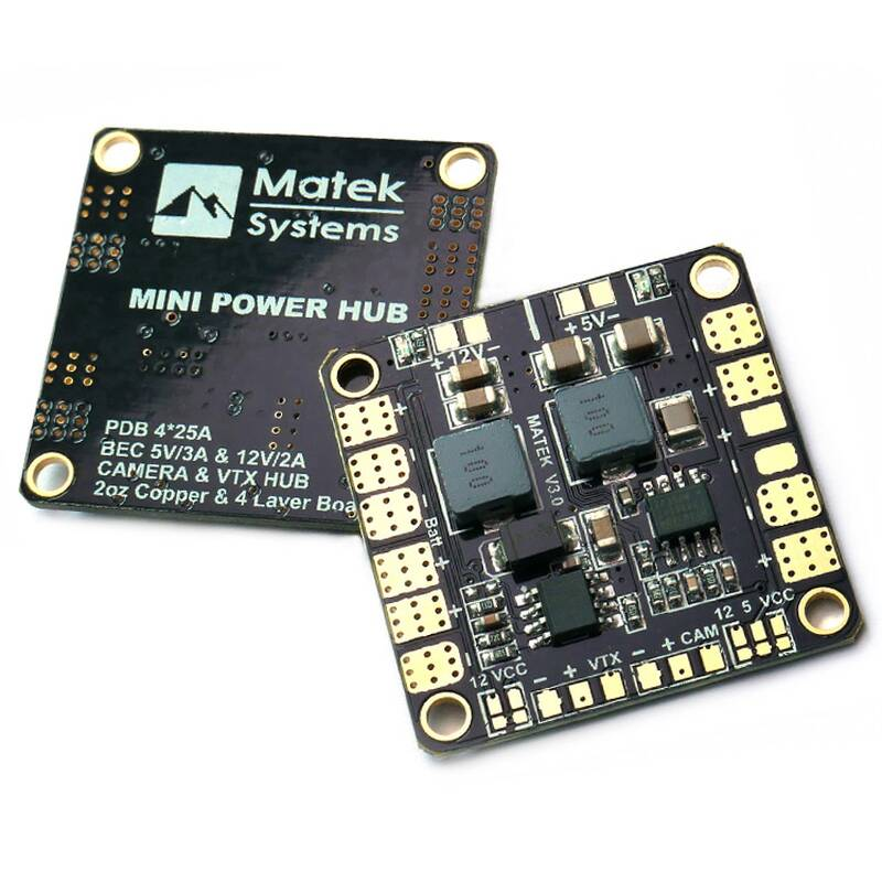 Matek Mini Power Hub PDB 5V/12V BEC V3